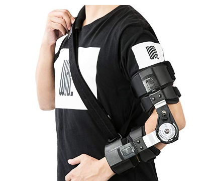hinged elbow brace ....